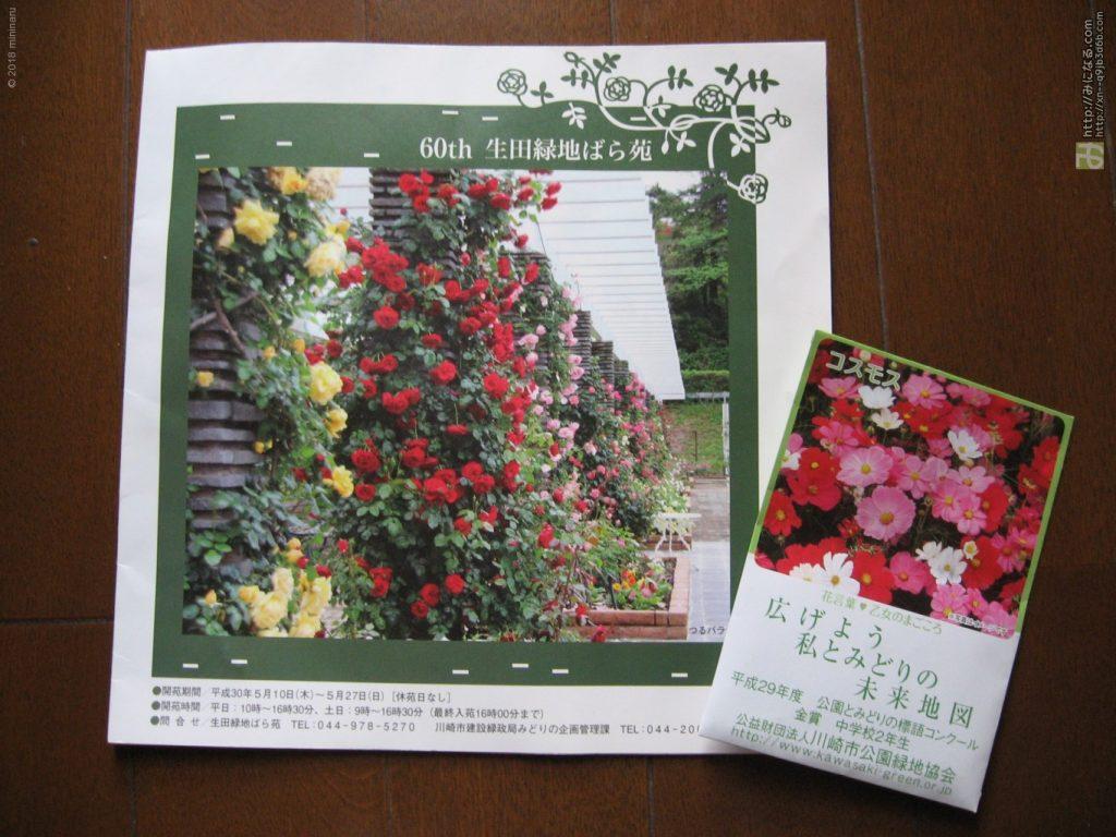生田緑地ばら苑パンフレット