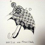今日のゼンタングル 日傘